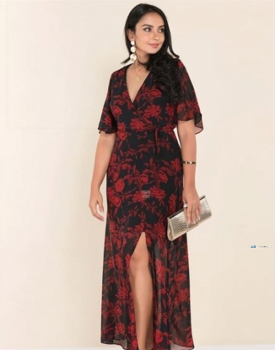 Side Slit Printed Maxi Party Dress Price in Srilanka