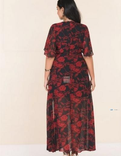 Side Slit Printed Maxi Party Dress Price in Srilanka