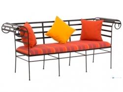 Damro Wrought Iron Furniture TWIC 001 (With Pillows - 3 Seater) Price