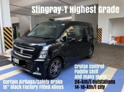 Suzuki Wagon R Stingray T Highest Grade Black 2017