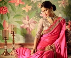 Designer Pink Saree with Jacket Price in Srilanka