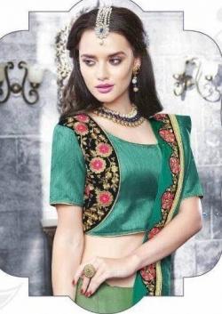 Designer Lime Green Shaded Saree Price in Srilanka