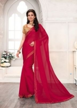 Designer Deep Pink Saree Price in Srilanka