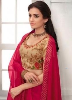 Designer Deep Pink Saree Price in Srilanka