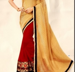 Designer Red & Gold Saree Price in Srilanka