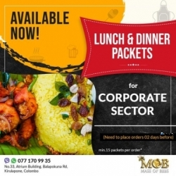 Lunch and Dinner Packets Delivery for Corporate Sector in Nugegoda